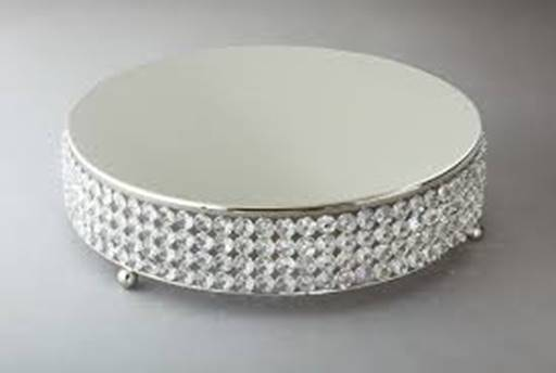 round cake stand crystal