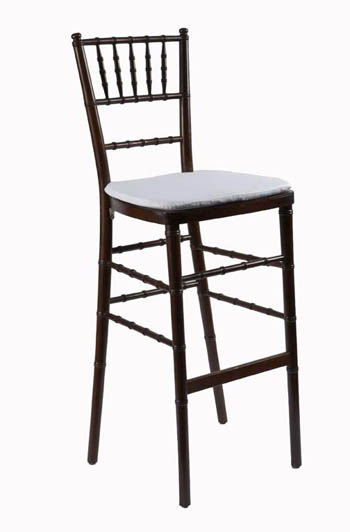 Mahognay chiavari barstool with cushion