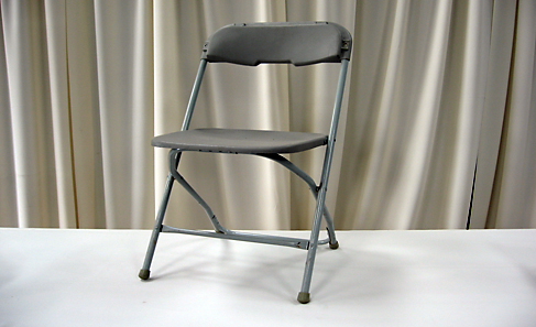 gray folding chair rental